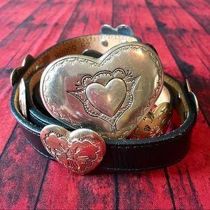 Vintage 1991 Justin Brighton inspired heart belt💜